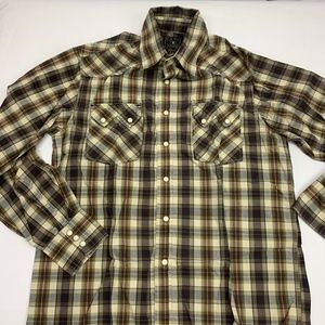 Lucky Brand Duncarees Pearl Snap Front Mens Sm